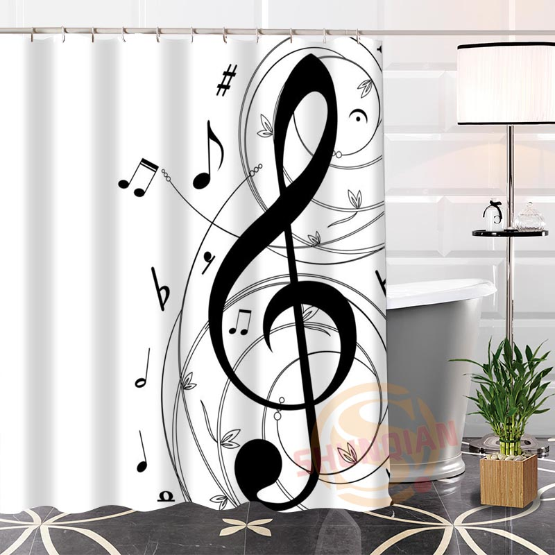 Music Themed Shower Curtains 187 Music Note Gifts