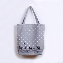 Cute Music Cat Shopping Bag