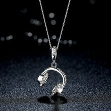 Top Quality Music Note Necklace Silver Color