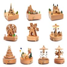 Vintage Wooden Music Boxes For Sale