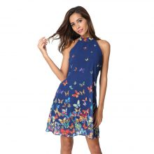High-Quality Blue Butterfly Dress