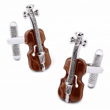 Music Violin Cufflinks With Luxury Gift Box