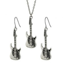 Vintage Guitar Necklace Jewelry