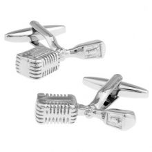 Music Themed Microphone Cufflinks