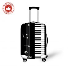 Music Note Print Suitcase Covers Protectors