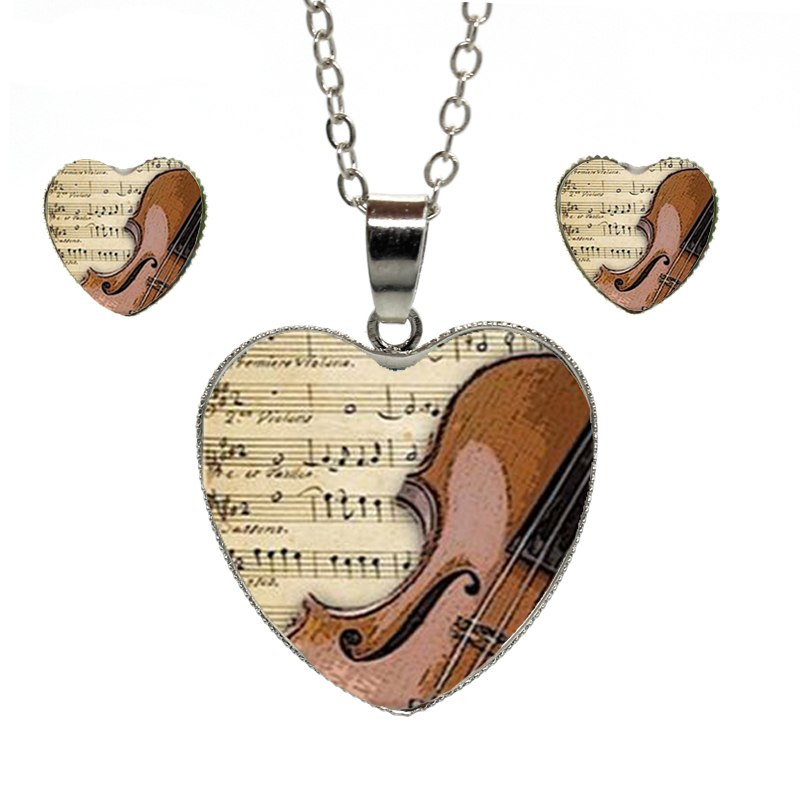 violin jewelry set
