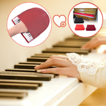 Piano Cleaning Cloth Glove+Piano Keyboard Dust Cover