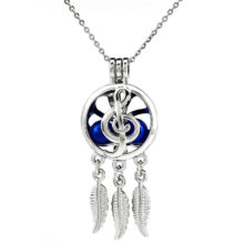Musical Note Dream Catcher Necklace