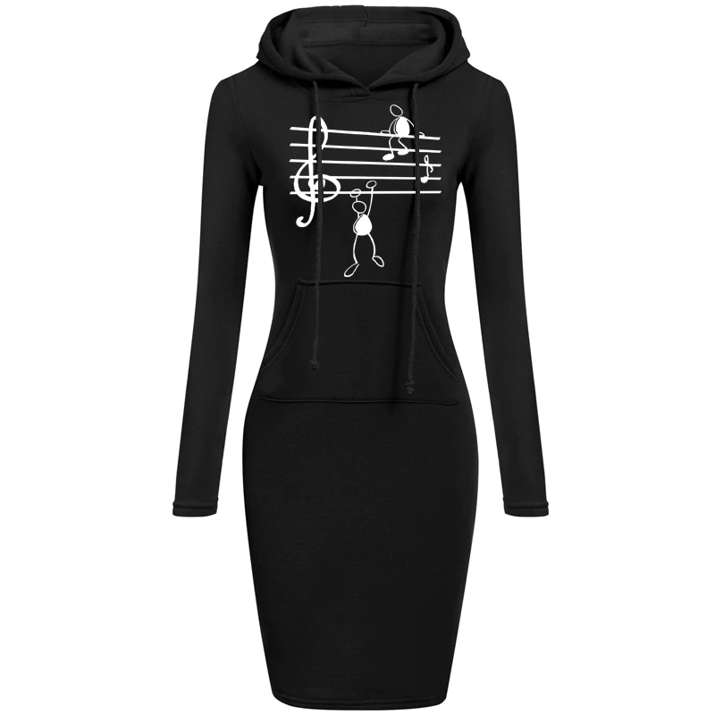 Music Note Printed Dresses